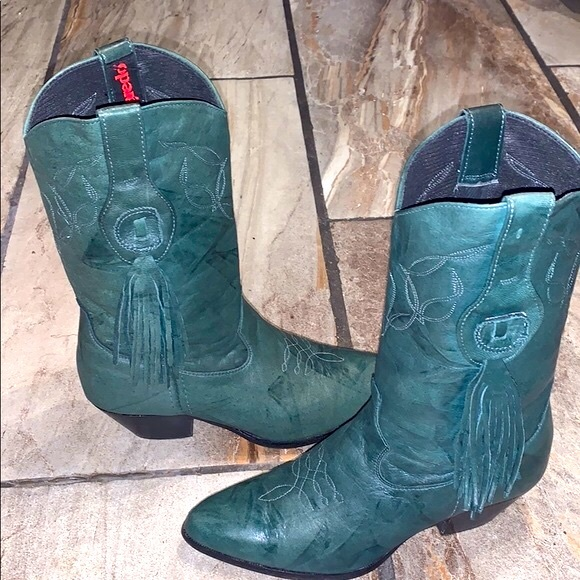 Vintage Leather Laredo Cowboy Boots
